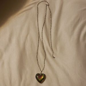 Long chain heart necklace